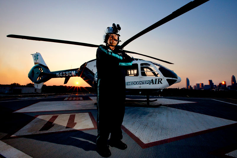 Category: Portrait PhotographySubcategory: Workforce - Medcenter Air PilotLocation: Charlotte, NC