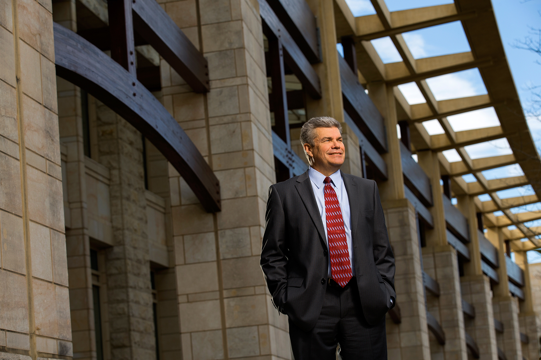 Executive Corporate Portrait Photography of John Ragland, TIAA-CREF's Senior Director, Global Real Estate, at the Charlotte, North Carolina campus.Charlotte Photographer - PatrickSchneiderPhoto.com