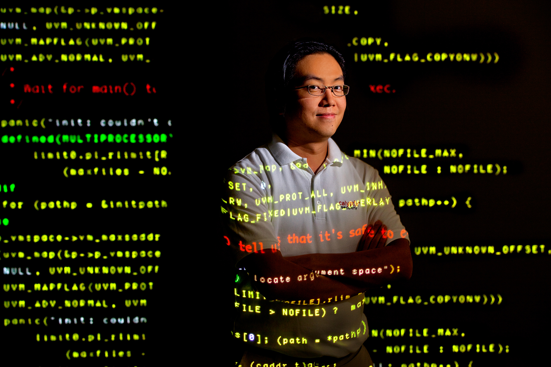 Photography of Lawrence Teo, VP of Development at Calyptix Security at their Charlotte North Carolina offices...Charlotte Photographer - PatrickSchneiderPhoto.com