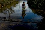 Catawba Riverkeeper Sam Perkins at work testing the waters in the Charlotte, North Carolina area.Charlotte Photographer - PatrickSchneiderPhoto.com