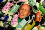 Charlotte small business photography of Gary Gagnon, founder and CEO of Remyxx, a 100 percent recycable sneaker in fashionable design. REMYXX markets itself as the world's first and only completely landfill-free sneakers. The Charlotte-based entrepreneur appeared on ABC television's Shark Tank in May 2012. Gagnon says more than 300 million pairs of shoes were thrown away in the U.S. in 2011.Charlotte Photographer - PatrickSchneiderPhoto.com