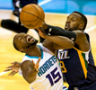 Photography of the Charlotte Hornets vs. the Utah Jazz at the Spectrum Center in Uptown Charlotte, North Carolina. Charlotte Photographer - Patrick SchneiderPhoto.com