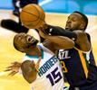 Photography of the Charlotte Hornets vs. the Utah Jazz at the Spectrum Center in Uptown Charlotte, North Carolina. Charlotte Photographer - Patrick SchneiderPhoto.com