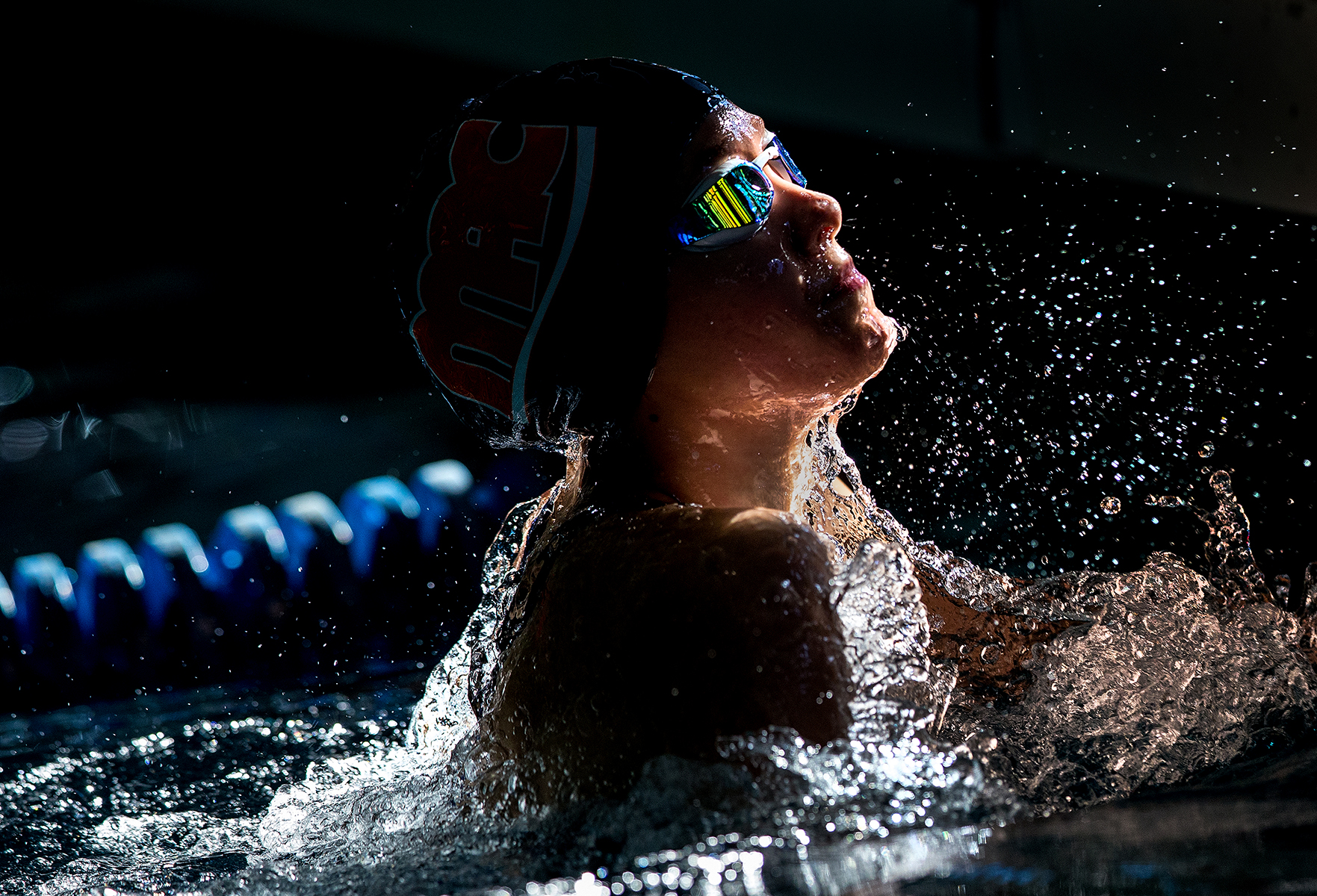 Photography of the SwimMAC Carolina swimmers competing in the 2016 IM Extreme meet at SwimMAC Training Facility at Charlotte Latin, January 2, 2016.Photo by  Patrick SchneiderPhoto.com