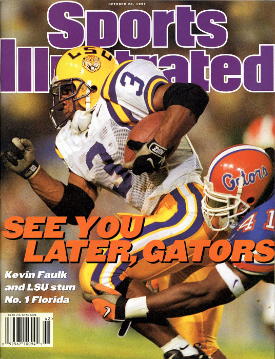 LSU Tigers Kevin Faulk as LSU upset No.1 ranked Florida