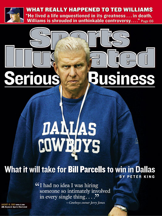 Bill Parcells shortly after taking over the Dallas Cowboys