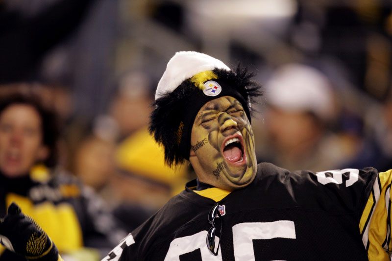A Pittsburgh Steelers fan