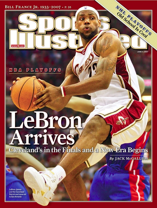 Cleveland Cavaliers LeBron James during the 2007 NBA Playoffs