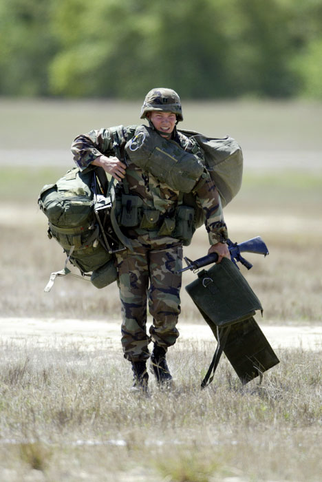 Rangers must carry their gear to the target area.