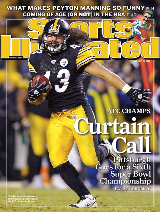 Troy Polamalu interception return seals  the win in the 2008 AFC Championship for the Pittsburgh Steelers