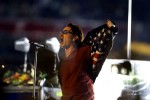 U2 singer Bono performs at Super Bowl XXXVI