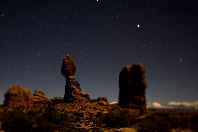 Night photograph, Arches National Park, Utah 2008.