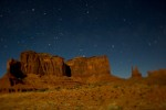 Monument Valley Utah, night photograph, 2008.