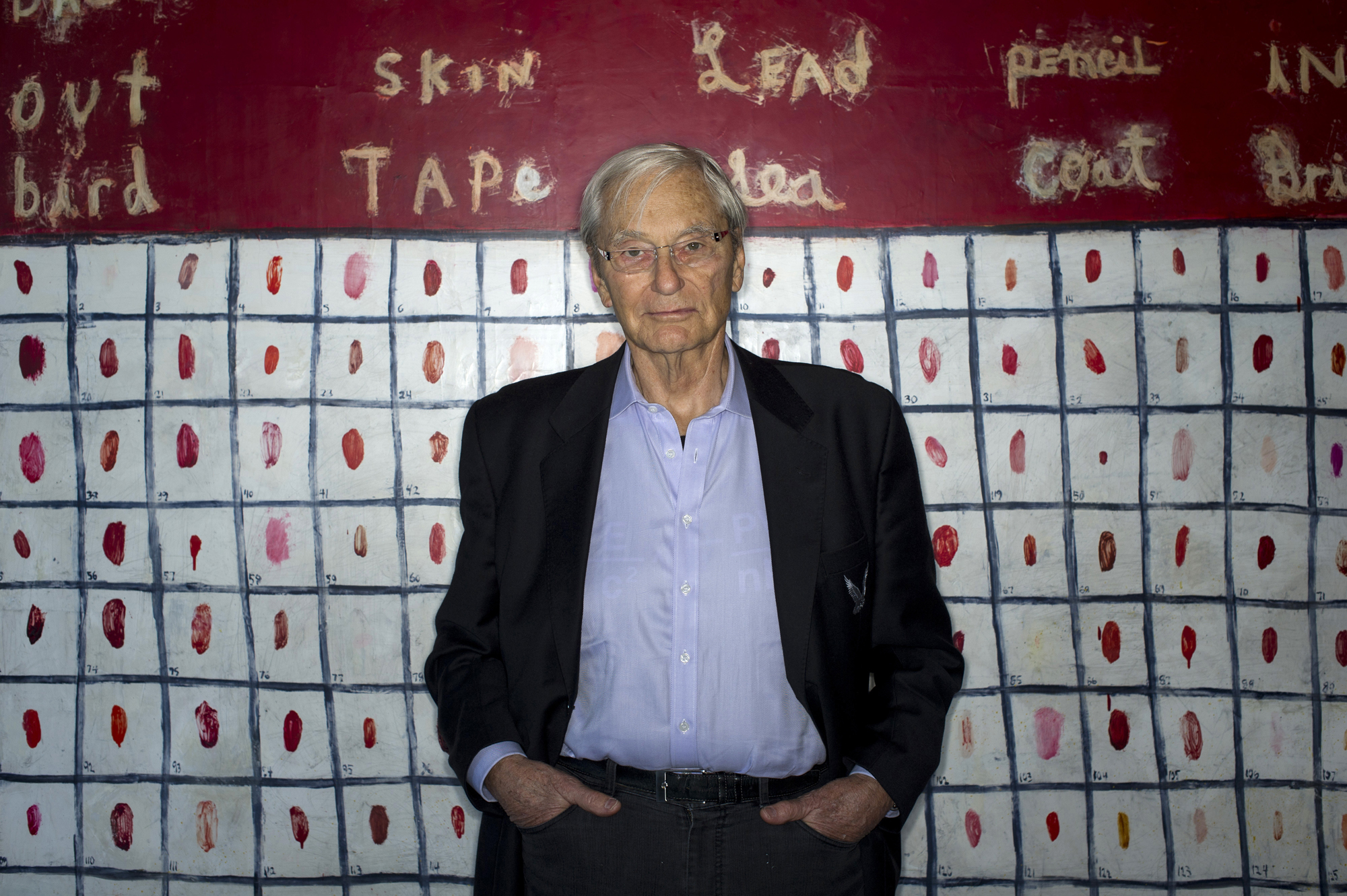 Tom Perkins, co-founder of Kleiner Perkins Caufield & Byers, stands for a photograph in his home in San Francisco, California, U.S. on January 31, 2014.