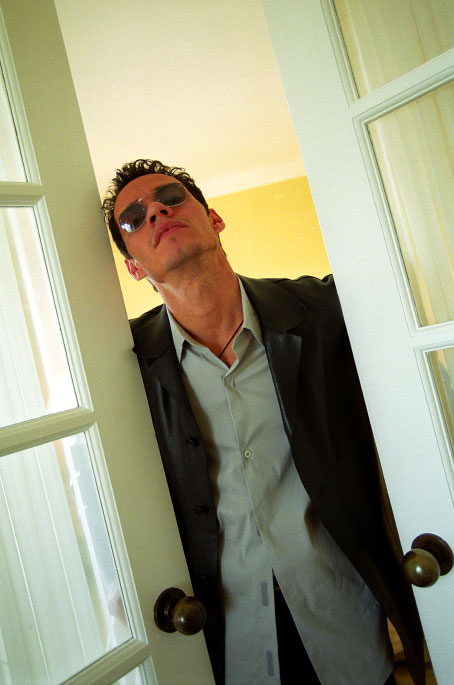 Marc Anthony poses in a hotel room in Beverly Hills, California.