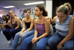 A tearful Stephanie Zepada, 17 'comes out' and she tells her story to her classmates at her high school in Stockton, CA