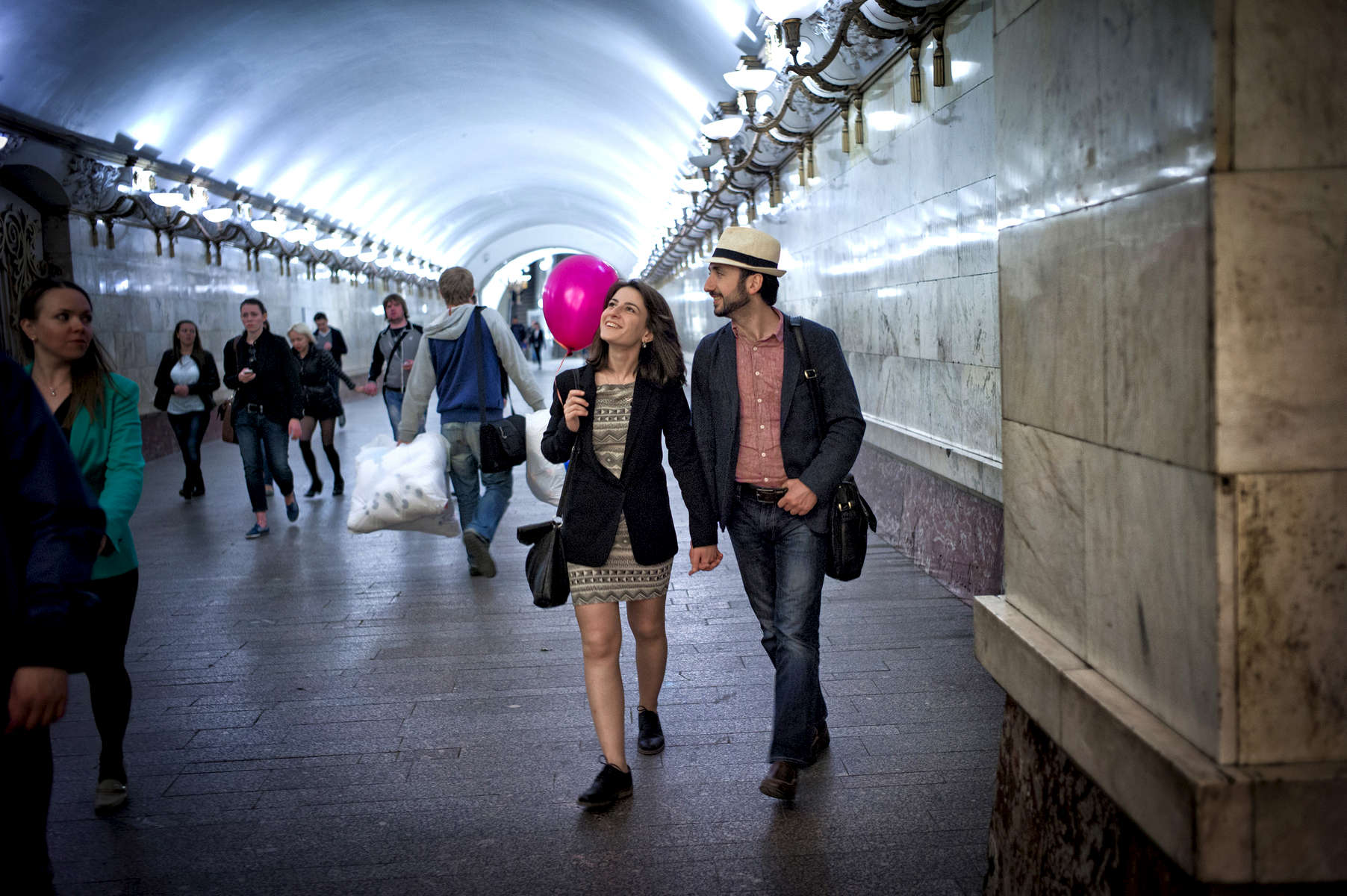 Arbatskata Metro Station - Moscow, Russia