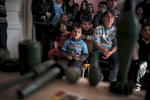Students listen to a mine risk education class in Nor Maragha.  All students in Nagorno-Karabakh are required to take regular mine risk education classes, especially if any new kinds of munitions are used or found, as in after the Four Day War in April 2016.