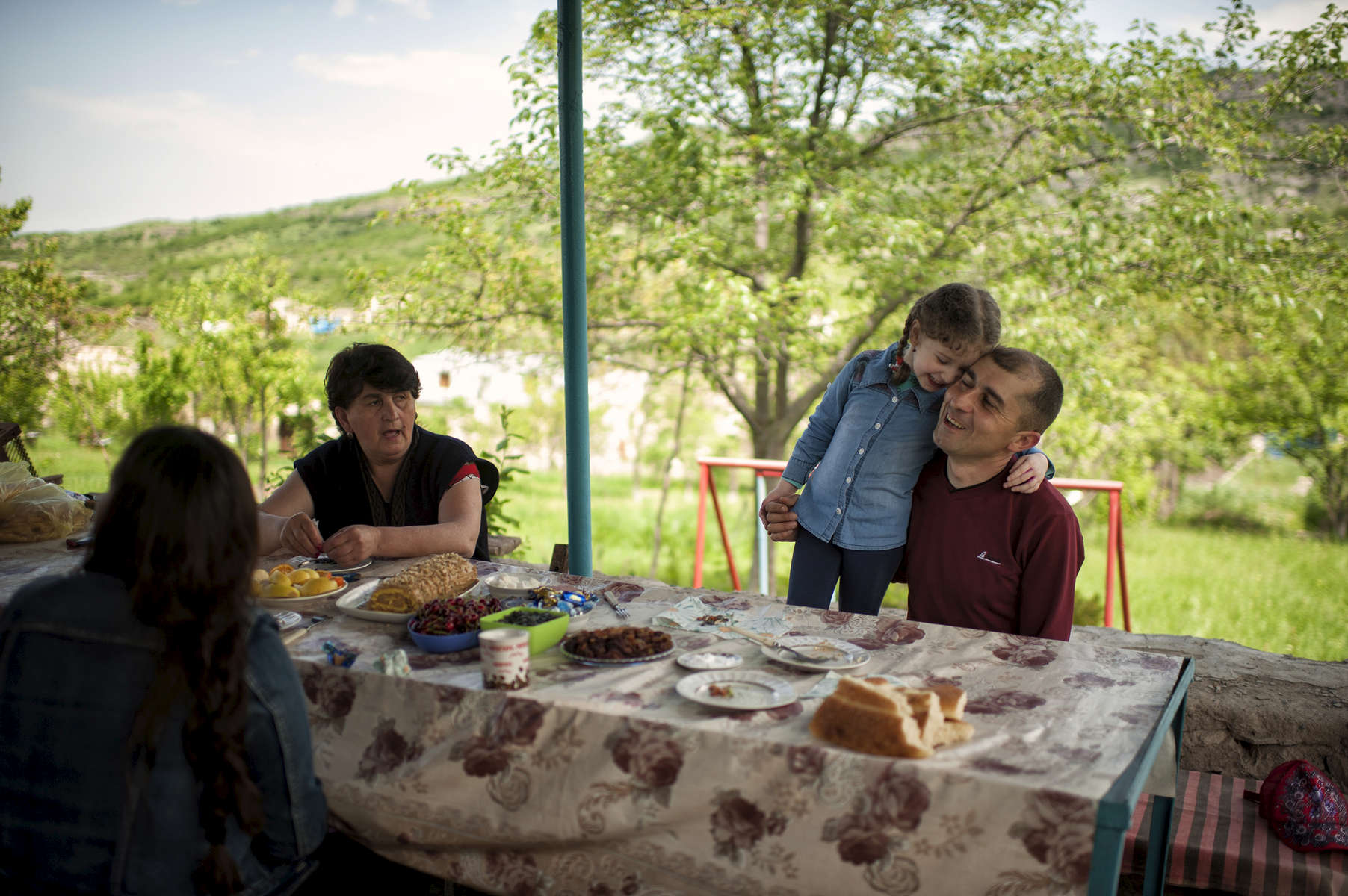 HALO supervisor Melord Aslanian enjoys a Saturday off with his family at his dacha in Achapniak, not too far from the HALO Trust HQ in Stepanakert.