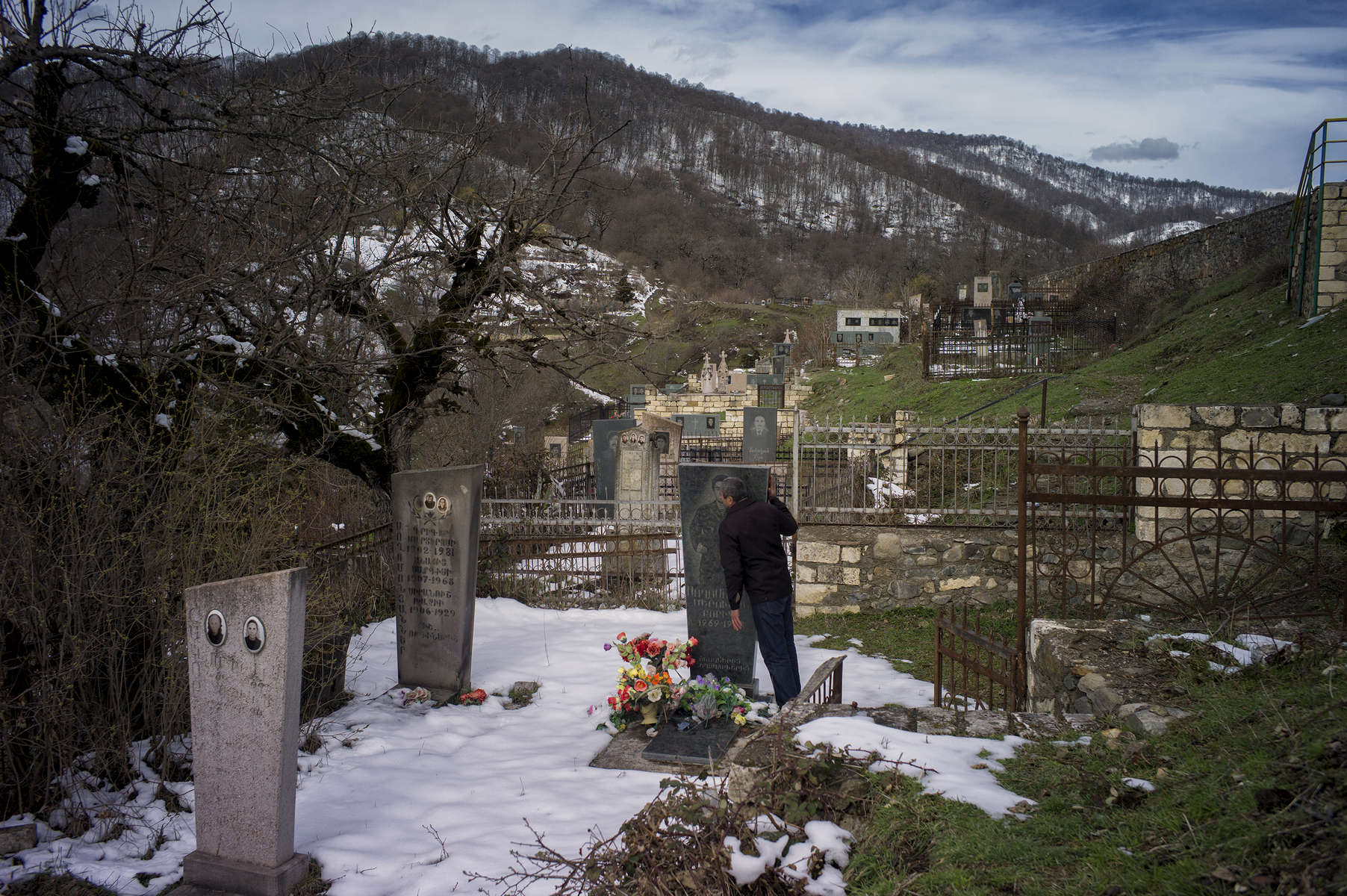 The area around Gandzasar monastery, and especially around the cemetery,  was cleared by HALO