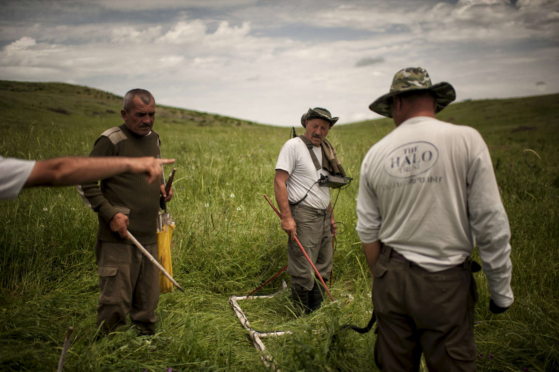 HALO  deminers work to clear an anti-tank minefield near Govshatly village in the Hadrut region. DEFINERS HAVE BEEN INTERVIEWED. NAMES AND PULL QUOTES TK NEXT WEEK