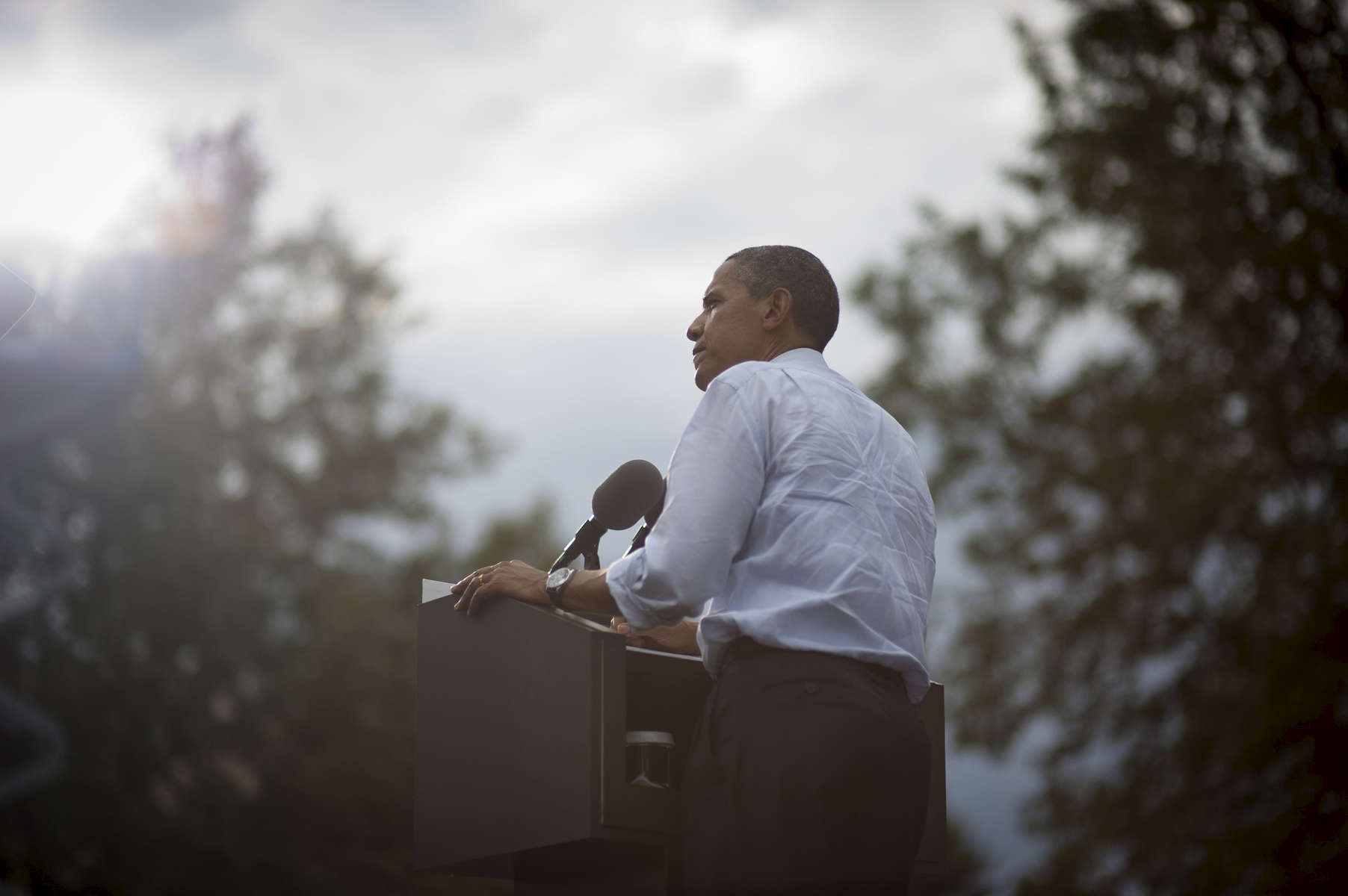 August 28, 2012- Fort Collins, CO:  President Barack Obama speaks at a campaign event in Fort Collins, CO.  (Scout Tufankjian for Obama for America/Polaris)