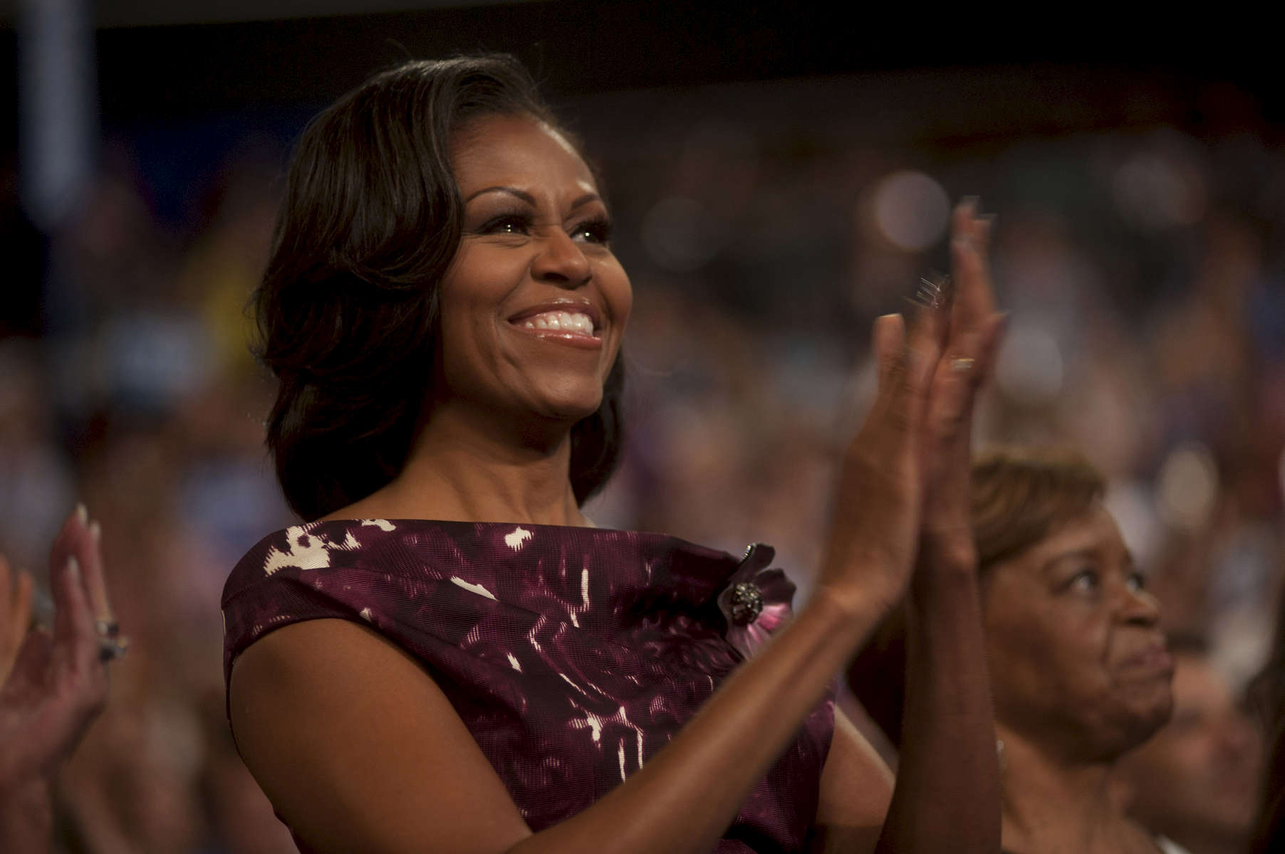 September 6, 2012 - CHARLOTTE, NC: First Lady Michelle Obama applauds as Joe and Jill Biden speak at the 2012 Democratic National Convention in Charlotte. (Scout Tufankjian for Obama for America/Polaris)