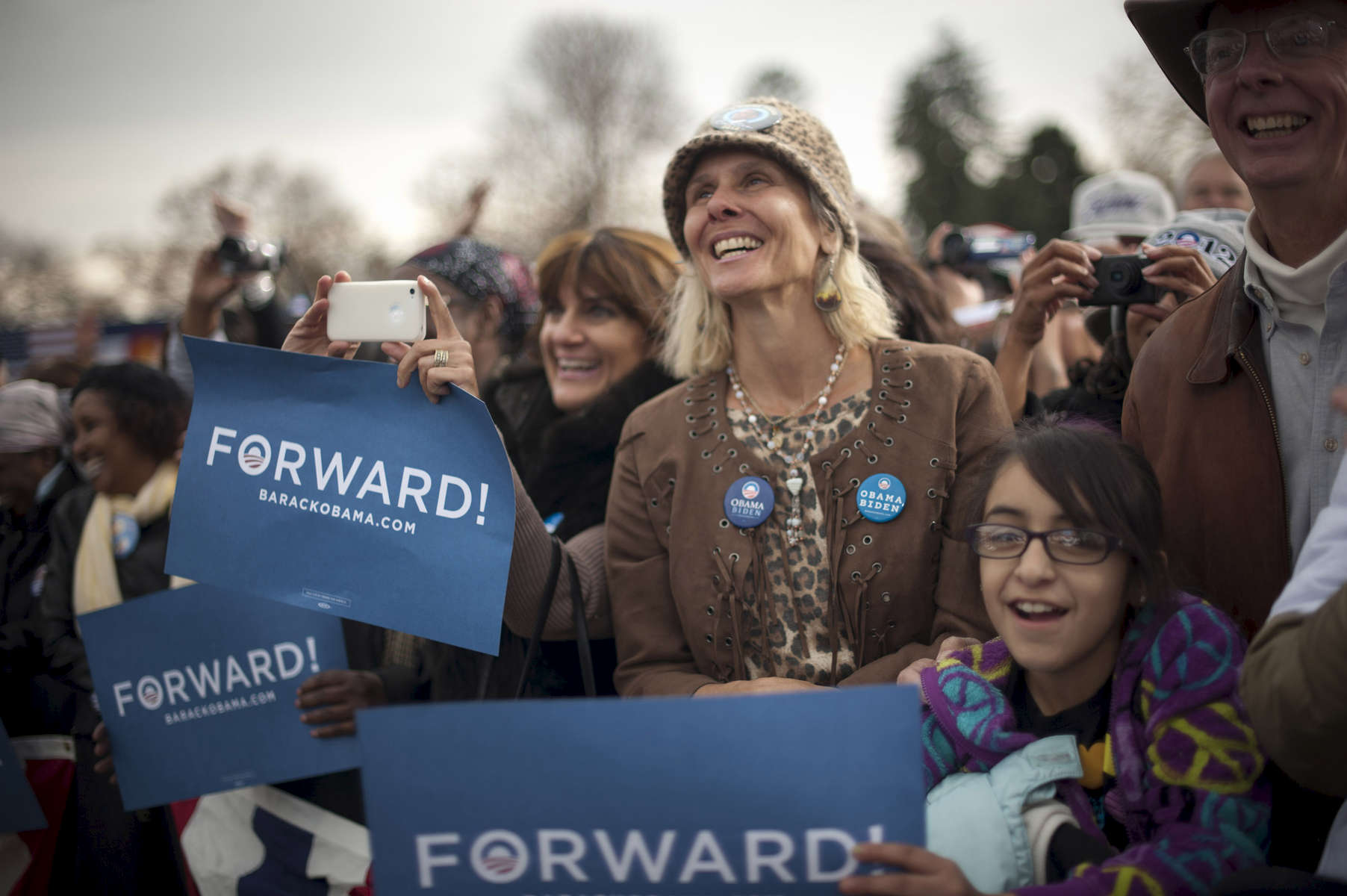 October 24, 2012-  Denver, CO: Supporters listen as President Barack Obama speaks at a rally in Denver, his second stop on a 48 hour swing of straight events. (Scout Tufankjian for Obama for America/Polaris)
