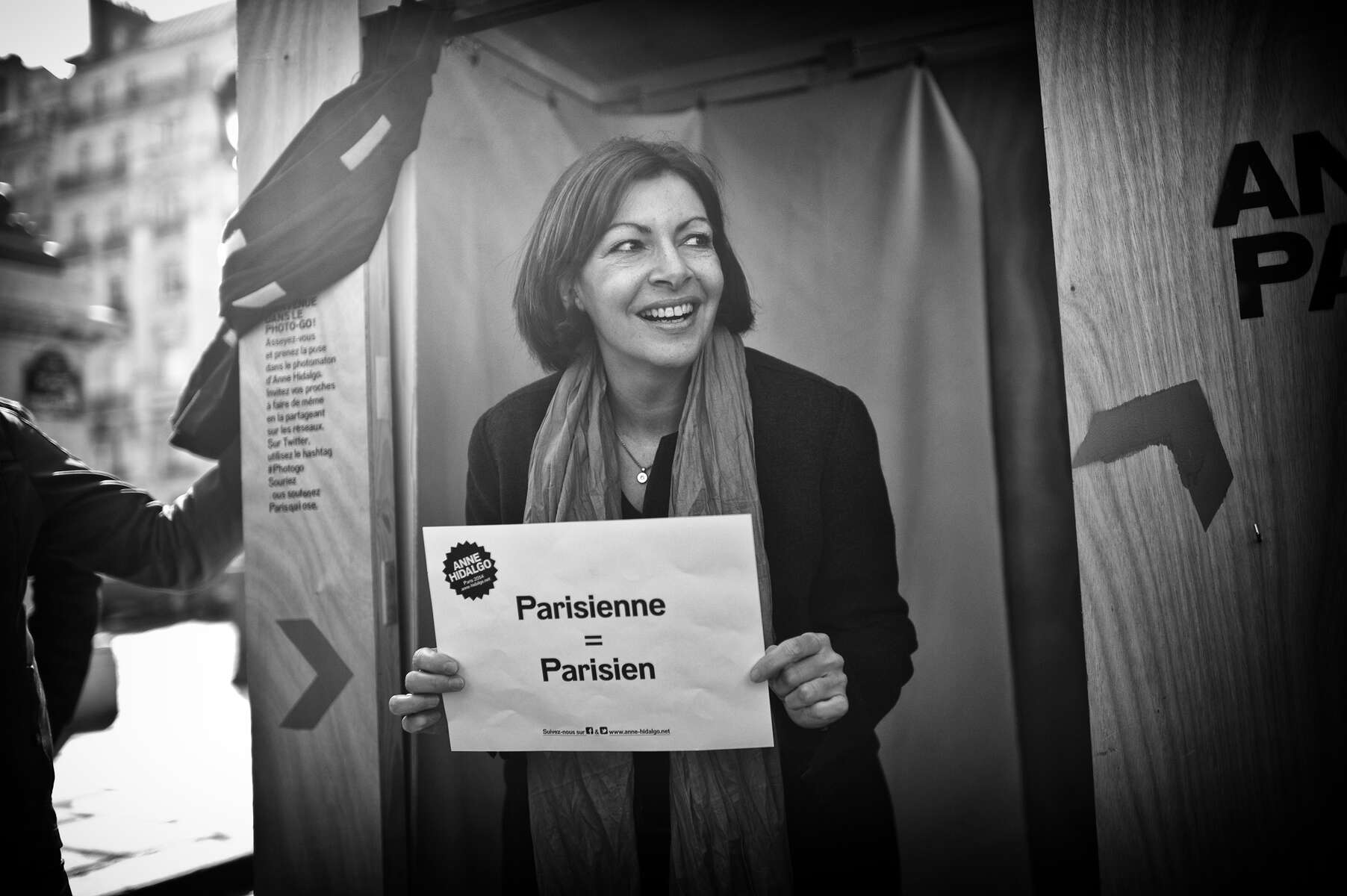 March 08, 2014.  PARIS, FRANCE-  Anne Hidalgo attends an event at Place du Panthéon to celebrate International Women's Day.  For the first time in France's history, Paris will have a woman as a mayor - either Socialist Anne Hidalgo or Center-Right Nathalie Kosciusko-Morizet.  Photo by Scout Tufankjian