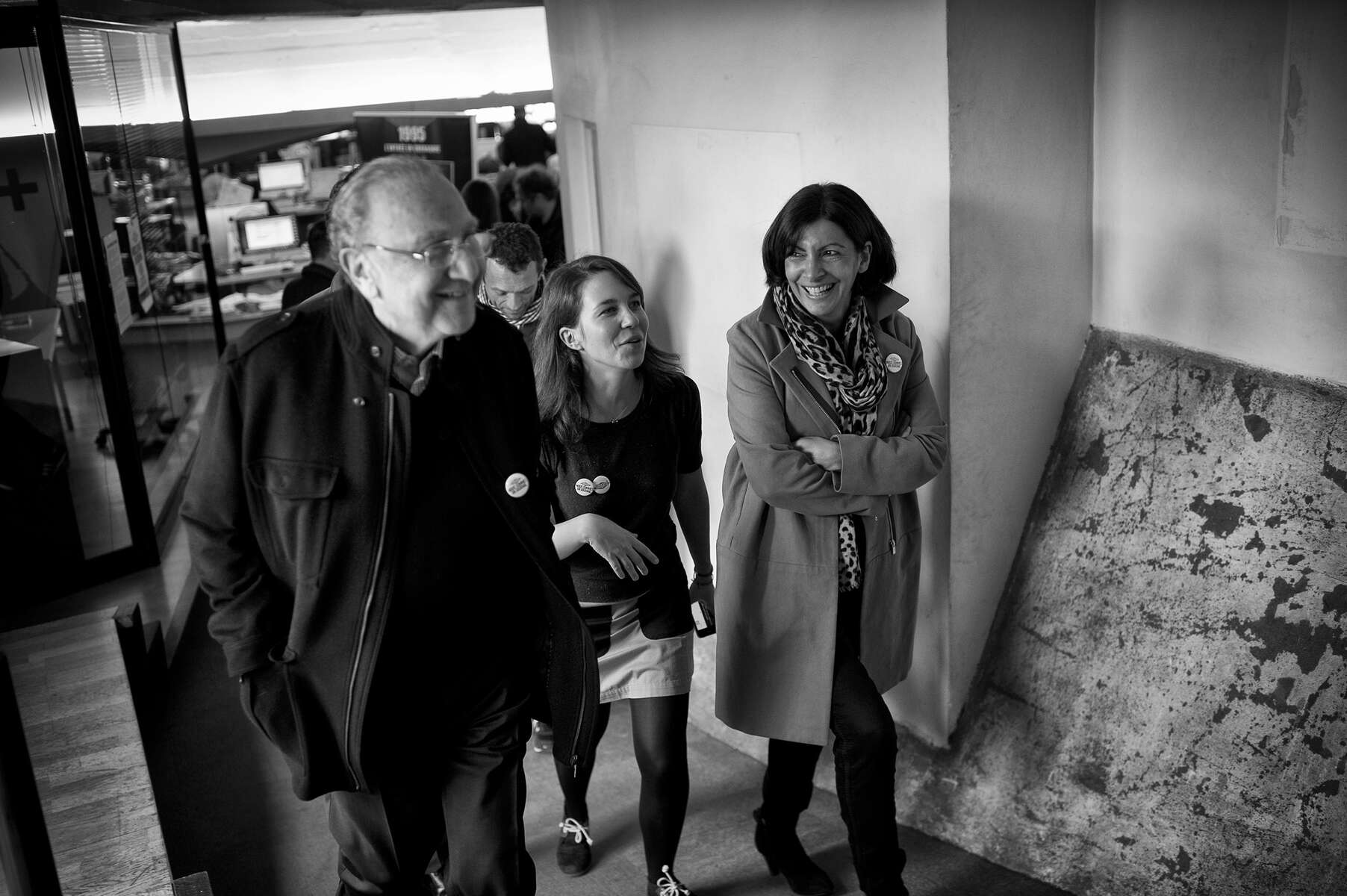 March 15, 2014.  PARIS, FRANCE-  Mayoral candidate Anne Hidalgo attends a {quote}Save Libération{quote} event at the left-wing newspaper's headquarters to lend support to their efforts not be shuttered by their shareholders.   For the first time in France's history, Paris will have a woman as a mayor - either Socialist Anne Hidalgo or Center-Right Nathalie Kosciusko-Morizet.  Photo by Scout Tufankjian