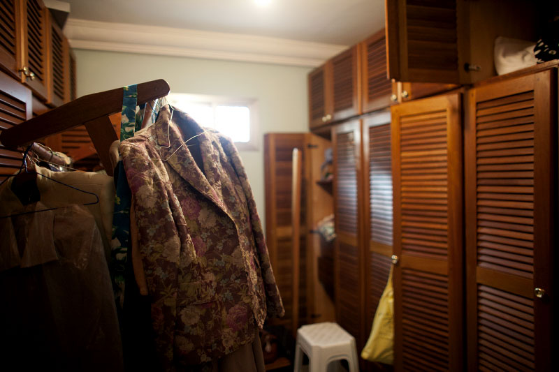 womens clothing is left behind in the home of dagobert banzio, minister of sports, after it was looted by a gang of youths who were supported by security forces loyal to laurent gbagbo