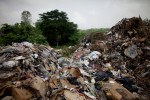 one of many trash piles which have collected in abidjan. do to the crisis, cash has become so scarce in the world's largest cocoa producing country that laurent gbagbo is unable to pay his city employees in full