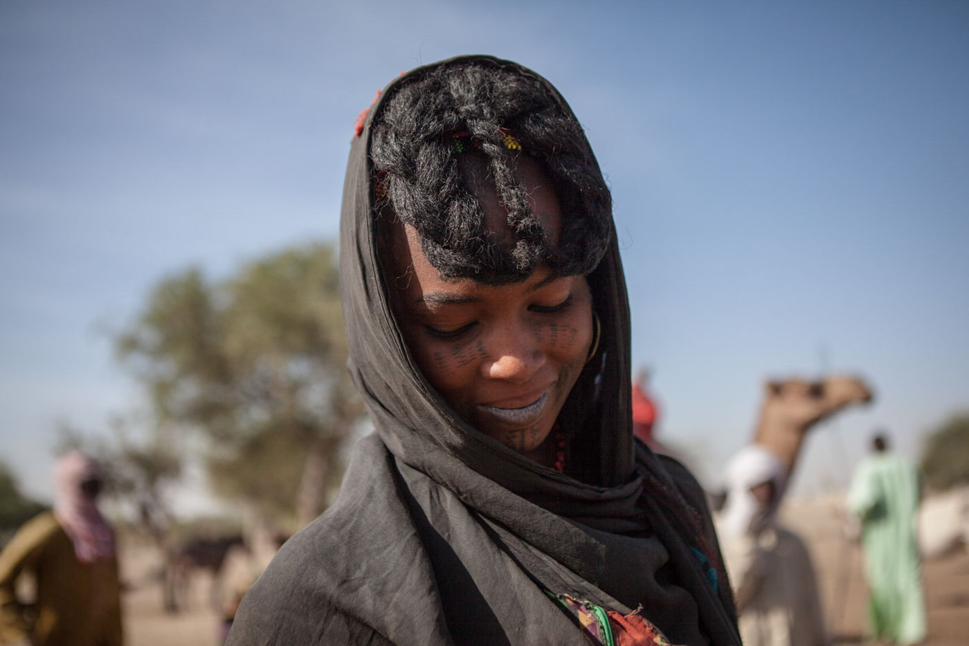 A Fulani woman collects water in Kindjandi in Diffa, Niger.