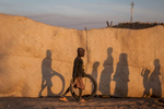 Children play in Kindjandi Town/Camp in Diffa, Niger