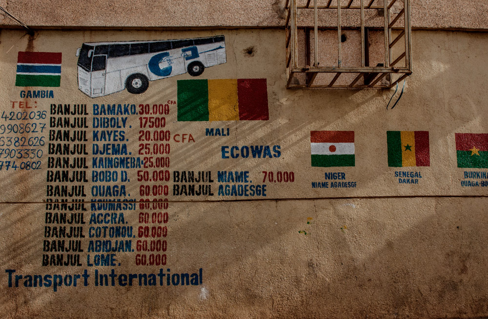 Transport International bus station in Banjul, Gambia