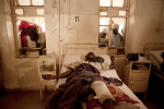 A man wounded by recent bomb blasts receives treatment at the Murtala Mohammed Hospital in Kano, Nigeria. 2012