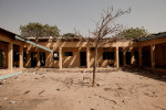 Part of police headquarters destroyed by a suicide bomber in Kano, Nigeria. 2012