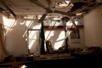 A destroyed office in the main building of police headquarters destroyed by a suicide bomber in Kano, Nigeria. 2012