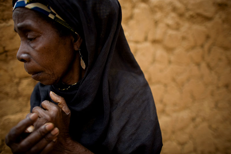 Maimouna Gourouza outside of her home outside of Niamey, Niger