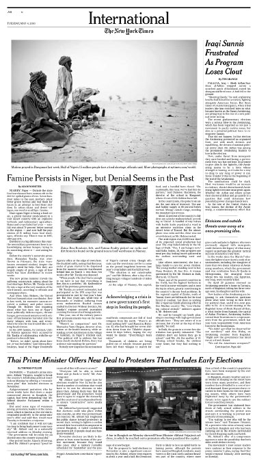 Niger Food CrisisNew York Times Tuesday, May 4, 2010slideshow