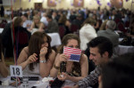 Iraqis at a banquet celebrating Akitu, the Chaldean - Assyrian New Year, at the Bellagio Banquet Hall. Iraqi traditions and culture are becoming part of the American melting pot. Sterling Heights, MI, USA.