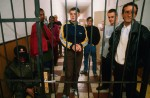 Illegal immigrants in a detention center after being expelled from Austria back to Hungary. The new eastern members of the European Union, for decades countries of emigration, are now on the front lines of the fight against illegal immigration into the open borders of Europe, but have few means of dealing with the problem.Szombathely, Hungary.Photo © J.B. Russell