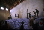 Humanitarian food aid arriving at an International Committee for the Red Cross (ICRC) warehouse. Gode, Ethiopia.Photo © J.B. Russell
