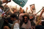 Taliban supporters of Osama bin Laden at a large demonstration following Friday prayers.  After weeks of anti American and anti government demonstrations became increasingly violent, President Musharraf ordered security forces to crack down on any demonstrations that incite violence or lawlessness.Quetta, Pakistan.Photo © J.B. Russell