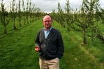 Jean-Pierre Groult, fourth generation master Calvados distiller in the apple orchards of the family business Roger Groult Calvados.Clos de la Hurvanière, Saint-Cyr du Ronceray, France.Photo © J.B. Russell