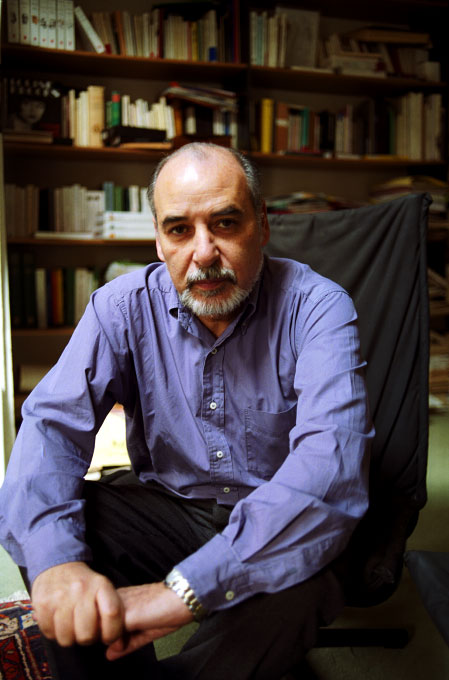 Tahar Ben Jalloun, author, in his office.Paris, France.Photo © J.B. Russell