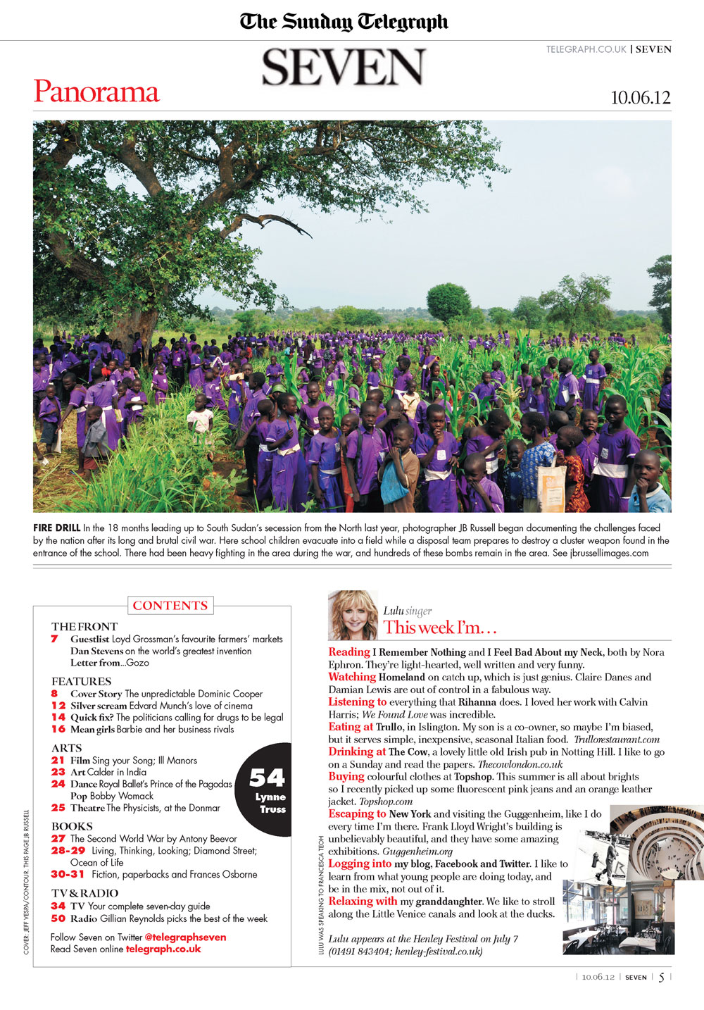 South Sudan image featured in the Panorama section of Seven Magazine.