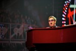 Elton John performs at the 2013 iHeartRadio Music Festival in Las Vegas, NV.