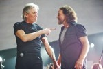 Roger Waters and Eddie Vedder perform at 121212: A Concert for Sandy Relief at Madison Square Garden in NYC.