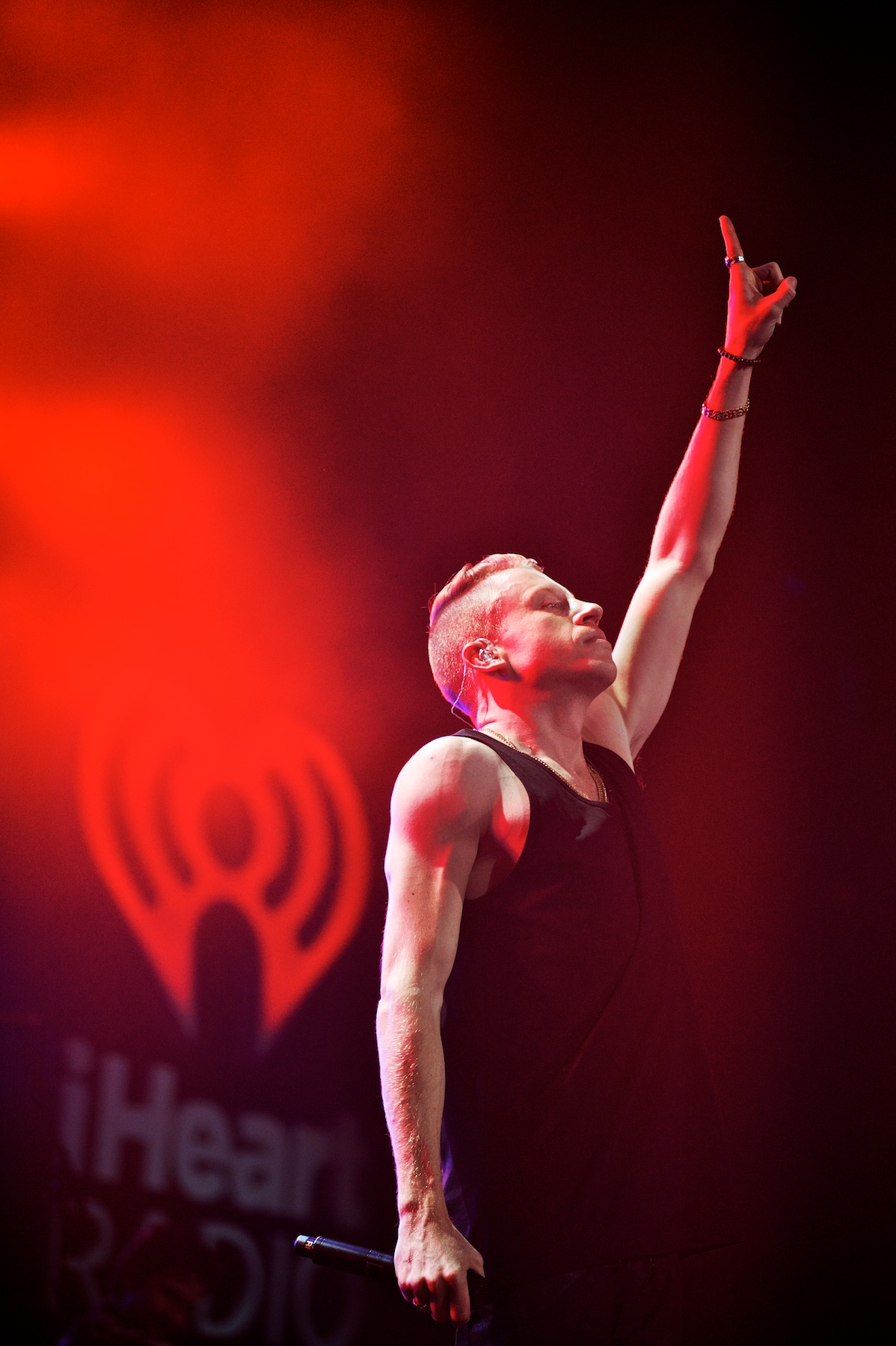 Macklemore performs at the iHeartRadio Jingle Ball